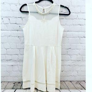 Monteau girls beige dress size 16 new